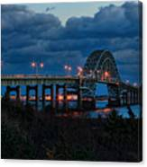 Robert Moses Bridge At Dusk Canvas Print
