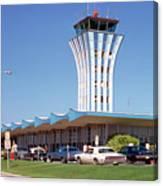 Robert Mueller Municipal Airport And Control Tower, Austin, Texas Canvas Print