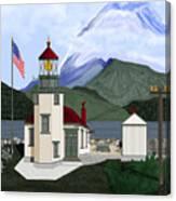Robinson Point With Mount Rainier Canvas Print