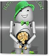 Robo-x9 With A Pot Of Gold Canvas Print