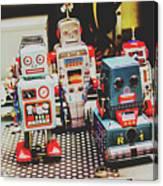 Robots Of Retro Cool Canvas Print