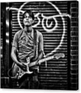 Rock & Roll. Street Musician In Canvas Print