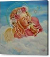 Rock And Roll Angel Canvas Print