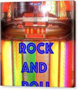 Rock And Roll Jukebox Canvas Print