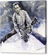 Rock And Roll Music Chuk Berry Canvas Print