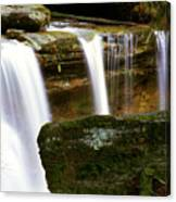 Rock And Waterfall Canvas Print
