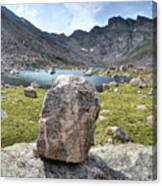 Rock At Abyss Lake Canvas Print