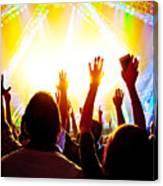 Rock Concert Canvas Print