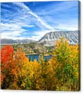 Rock Creek Lake Fall Panorama Canvas Print