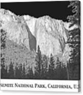 Rock Formation Yosemite National Park California Canvas Print
