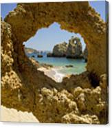 Rock Formations, Albufeira Canvas Print