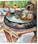 Rock Fountain Canvas Print