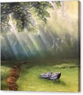 Rock In Sunlight Canvas Print