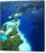 Rock Islands Aerial Canvas Print