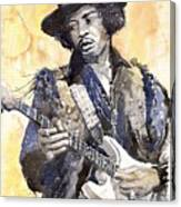 Rock Jimi Hendrix 02 Canvas Print