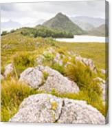 Rock Landscape Off Lake Plimsoll Near Queenstown Canvas Print