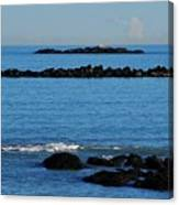 Rock Ledges And Calm Seas Canvas Print