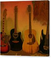 Rock N Roll Guitars Canvas Print