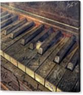 Rock Piano Fantasy Canvas Print