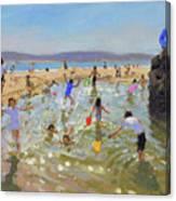 Rock Pool, Tenby Canvas Print