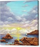 Rock Pools, Seascape Canvas Print