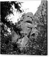 Rock Spirits At Yosemite B And W Canvas Print