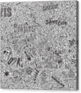 Rock Timeline Canvas Print