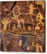 Rock Wall Of Petroglyphs Canvas Print