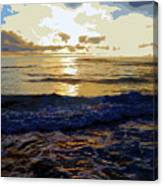 Rockaway Sunset #3 Enhanced #2 Canvas Print