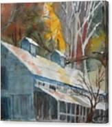 Rockbrook Camp Barn Canvas Print