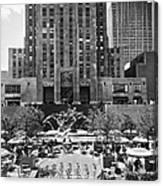 Rockefeller Center Plaza Canvas Print