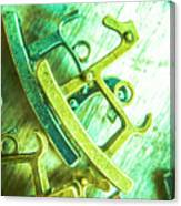Rocking Horse Metal Toy Canvas Print