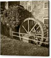 Rockland Grist Mill - Sepia Canvas Print