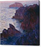 Rocks At Bell Ile Canvas Print