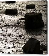 Rocks At Low Tide Canvas Print