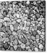 Rocks From Beaches In Black And White Canvas Print