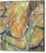 Rocks In Stream Canvas Print