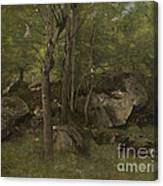 Rocks In The Forest Of Fontainebleau Canvas Print