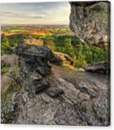 Rocks Of Sharon Overlook Canvas Print
