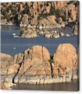 Rocks Of Watson Lake  Canvas Print