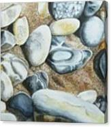Rocks On Beach Canvas Print
