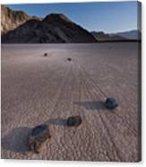 Rocks On The Racetrack Death Valley Canvas Print