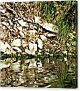 Rocks Reflecting Off Water Canvas Print