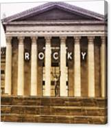 Rocky Balboa On The Art Museum Steps Canvas Print
