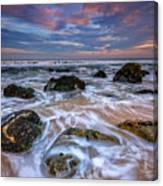 Rocky Beach At Sandy Hook Canvas Print