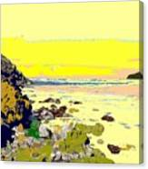 Rocky Beach Canvas Print