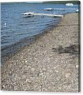 Rocky Beach On A Lake Canvas Print
