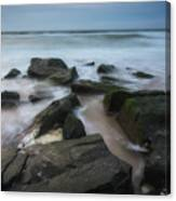 Rocky Coast Of New Jersey Canvas Print