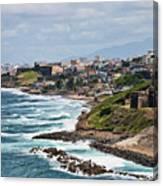Rocky Coast Of Puerto Rico Canvas Print