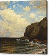 Rocky Coast With Breaking Wave Canvas Print
